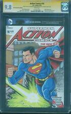 Superman Action Comics 18 CGC 9.8 SS Original art Wraparound movie Sketch