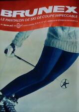 BRUNEX SKI CLOTHINGS Fashion Vintage 1965 Swiss advertising poster 36x51 NM
