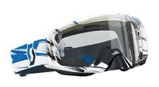 Scott 824 Tirano Splinter / ILLUSION Gafas Blanco/Azul / borrar para Motocross