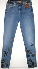 Driftwood Jackie Black Embroidered Bird Flowers Skinny Jeans Size 25 NEW