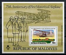 Maldive Maldive 1978 Wright Flyer AEREO AIRPLANE blocco 48 ** MNH