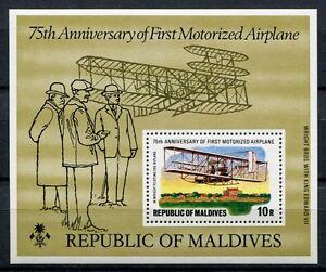 Malediven Maldive 1978 Wright Flyer Flugzeug Airplane Block 48 Postfrisch MNH