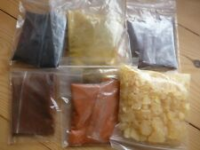 LUTHIER VIOLIN, VARNISH MAKING AND COLOURING KIT, 5 PIGMENTS PLUS GUM ROSIN!