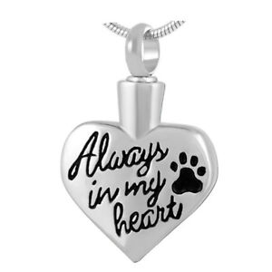 Cremation Jewellery for ashes Memorial keepsake Pendant necklace Pet urn pouch