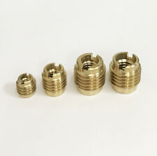 36pc. 4 Size BRASS THREADED INSERTS SET for Furniture, Cabinet, and Wood NEW