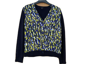 Cos Navy Wool And Silk Cardigan Size Small