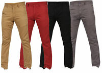 Mens Slim Fit Chinos Jeans Regular Straight Leg Stretch Trousers Pants All Sizes