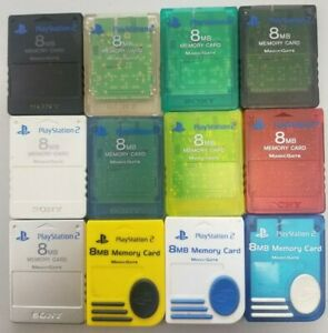 Official OEM Sony Playstation 2 PS2 Memory Card 8MB Magic Gate Nyko AUTHENTIC