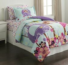 NEW PIPER OWL, PRINCESS, CROWNS GIRL'S TWIN COMFORTER & SHAM.