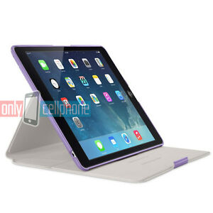 NEW Retail Belkin Form Fit Folding Purple Folio Cover Case for iPad Air(1st Gen)