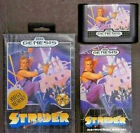Strider  Sega Genesis Complete with Manual and Box!! CIB *TESTED* *AUTHENTIC*