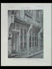 L'ARCHITECTURE n°31 1902 BLOIS, MAISON RUE SAINT LUBIN, TROUESSART