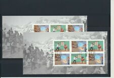 Greenland #668-669a Europa 2014 booklet panes - very fine used (TP00004)