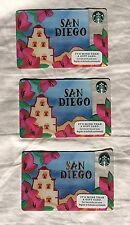 2016 Starbucks San Diego Cards - Lot of 3