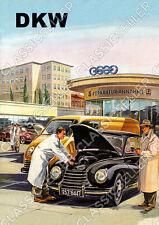 DKW Auto Union auto PKW OFFICINA RIPARAZIONE POSTER MANIFESTO immagine SCUDO affiche