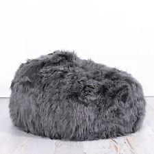 fc23f5d548 FUR BEANBAG Cover Lush Top of the Range Charcoal Grey Super Luxe Soft Bean  Bag