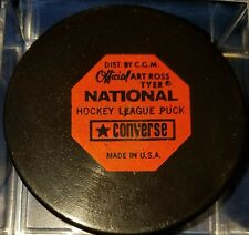 Vintage art ross converse DETROIT RED WINGS hockey GAME PUCK NHL CCM MADE IN USA