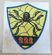 police special action group 222   vintage printed spider  cloth patch