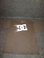 Hombre Auténtico DC Moda Informal skate bmx MX Camiseta S M L Xl Xxl Marrón { 64