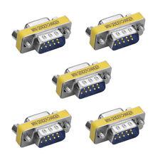 5x9 Pin RS-232 Seriell DB9 Stecker Stecker auf Buchse Kabel Geschlecht Wechsler