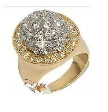 Brass Round Cubic Zirconia Costume Rings