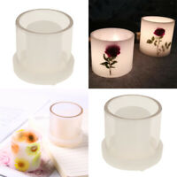 2x DIY Hollow Cylinder Candle Making Mould Mold Dried Flower Scented Candle