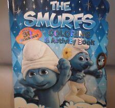 Smurfs  Coloring & Activity Book Stickers Room Door Sign           TC7