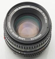 Minolta MD Rokkor 50 mm 50mm 1.7 1:1.7 - XD-7 XD7 X700 Ø55mm Filtergewinde