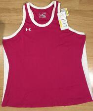 Under Armour Shirt Women's Size XL Loose Heat Gear Sleeveless Pink NWT!!