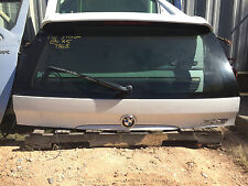 00-06 BMW X5 E53 OEM Upper Top Back Rear Lift Tail Gate with Privacy Glass White