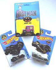 DC COMICS Hot Wheels - BATMAN BATMOBILE, ARKHAM KNIGHT BATMOBILE, JOKER VAN SET