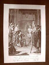 Amedeo III di Savoia il Crociato Incisione del 1881 Dinastia di Savoia Oscar Pio