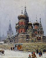 St. Basil's Cathedral in Winter. Building Repro Made in U.S.A Giclee Prints