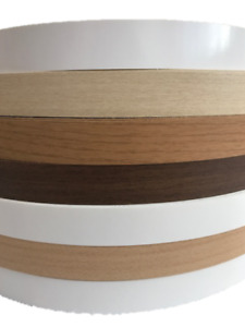 Melamine iron on pre glued edging Tape/Edge various colours