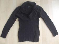 Warmer Damen Strick Pullover in dunkelbraun von One Love, Gr. S