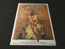 LES AVENTURIERS DE L'ARCHE PERDUE Indiana Jones  spielberg affiche cinema