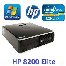 HP  8200 Elite Desktop PC i7 3.4GHZ - 4GB Ram - 250GB SATA3 HD -Win 7 WIFI READY