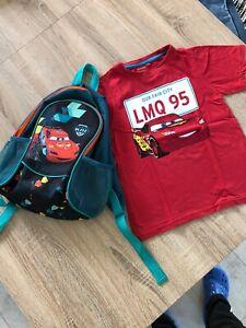 kinder shirt 128 Mit Rucksack Set 4