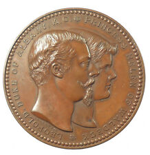 1882 Britain Germany MARRIAGE OF DUKE OF ALBANY & PRINCESS HELEN bronze 64mm