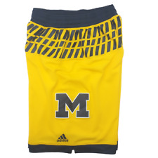 Adidas Michigan Wolverines Men's Medium Yellow Blue Basketball Shorts NCAA 934PA