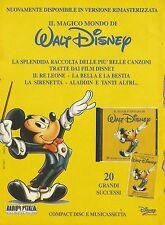X2983 Il magico mondo di Walt Disney - Compact Disc - Pubblicità 1996 - Advert.