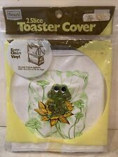 """🐸 RARE FIND NOS VINTAGE SEARS FROG 2 SLICE TOASTER COVER NEW SEALED 12x5.5x7.5"""""""