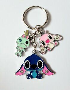 Lilo and Stitch Scrump Pink Angel Gems Disney Kids Ladies Keyring Keychain UK