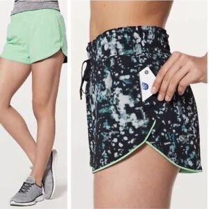 Lululemon Choose A Side Reversible Shorts Green blue patterned 4