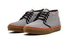 49e3b3cee9 42) Vans Chukka Boot DQM Black True White Fiery Red US MENS sz