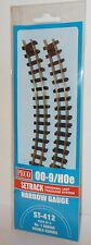 Peco Setrack (00-9/H0e) ST-412 No.1 Radius Double Curves x 4 (Narrow Gauge) New.