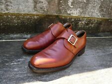 CHEANEY MONK STRAP – BROWN / TAN – UK 9 – NICKY – VERY GOOD CONDITION