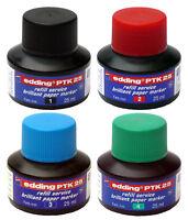 Edding PTK25 Pigment Nachfüll-Tusche/Tinte refill ink brilliant für Marker 25ml!
