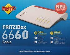 AVM FRITZ!Box WLAN AX Router Kabel EuroDOCSIS 4x GLAN DECT 2400MBits MESH WPS