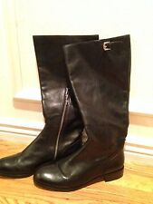 COACH Black Leather Mirriam Riding Boots Sz 8 NEW